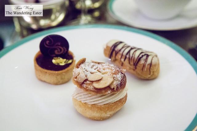 Salted Caramel Ganache Tart, Paris Brest, Tahitian Vanilla Éclair