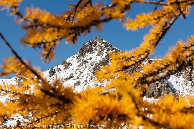 Mount Stuart and Larches, Alpine Lakes Wilderness, Washington