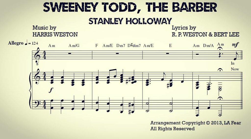 Sheet music for the Original