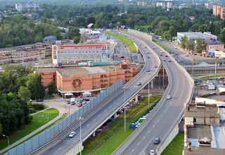 Bolshevo bridge over railroad in Korolev