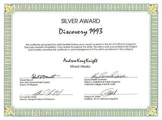 Silver Award Art of California Magazine | by Award-winning Artist & Art Educator