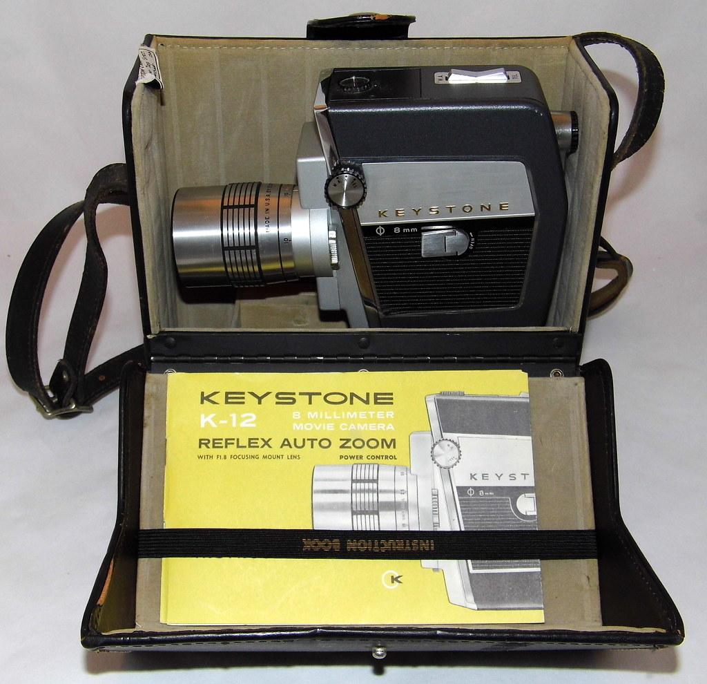 Vintage Keystone 8mm Reflex Auto Zoom Movie Camera, Model