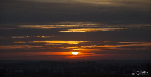 city sunset sun nikon view poland kielce d3200 olekgraf