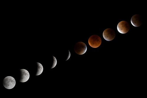 Lunar Eclipse - September 27 2015 - Diagonal Progression | by Eric Kilby