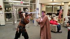 Anakin and Obi Wan showdown