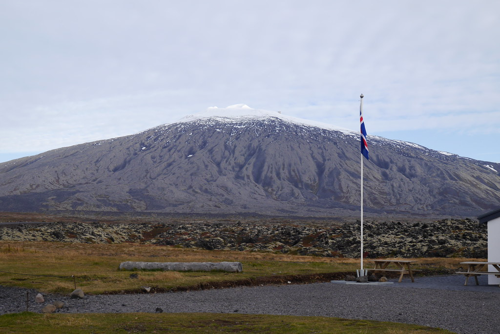 Iceland Flag & Snæfellsjökull