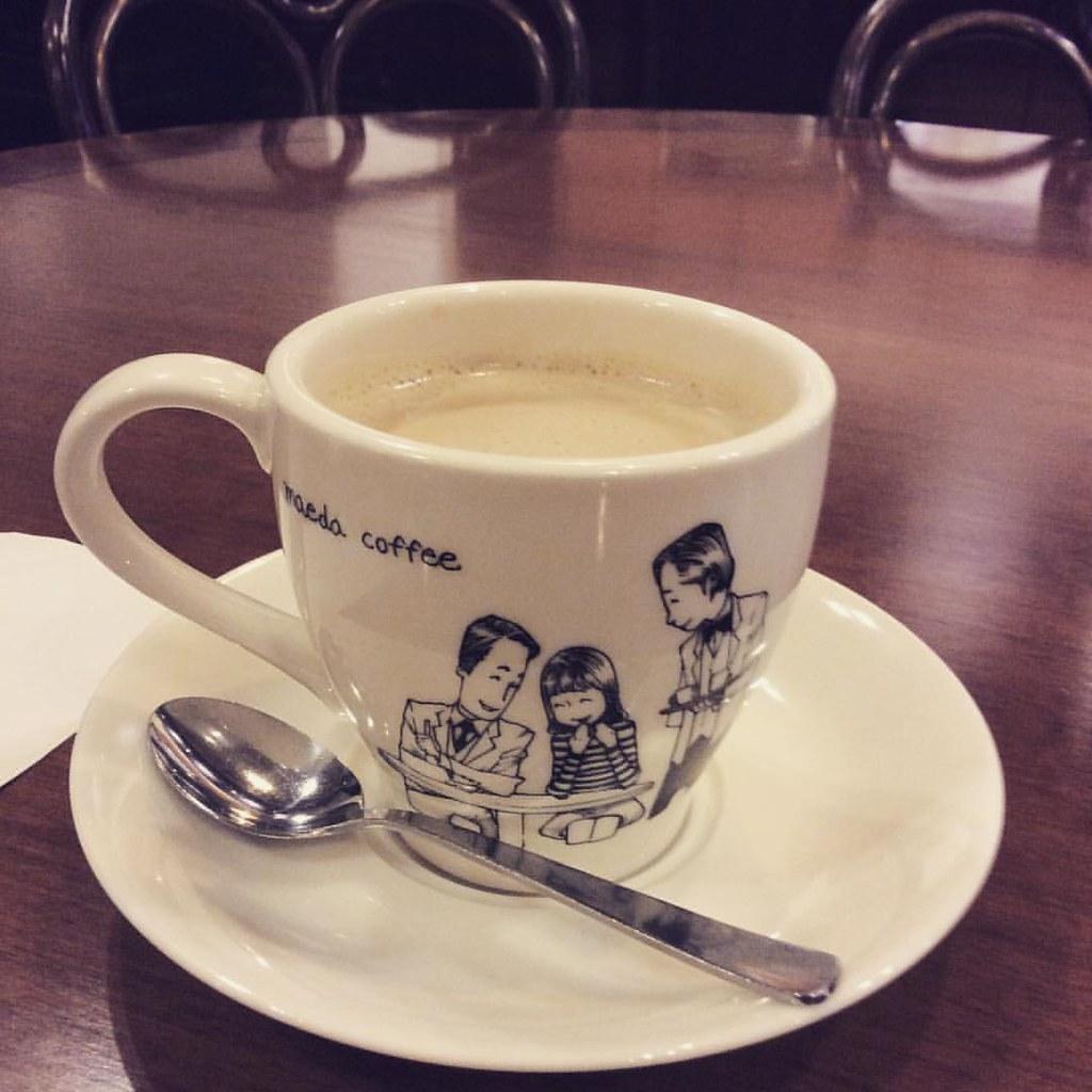 食後のミルクティー器が大きくて素敵なイラストだ Tea Cafe Kyoto