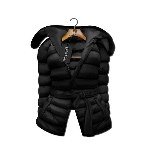 {MYNX} Puffy Tie Jacket - Black Ad