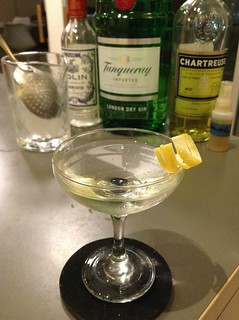 Fifth Avenue (Jim Romdall) with Tanqueray London dry gin, Dolin white vermouth, yellow Chartreuse, St. George absinthe #cocktail #cocktails #craftcocktails #martini #gin | by *FrogPrincesse*
