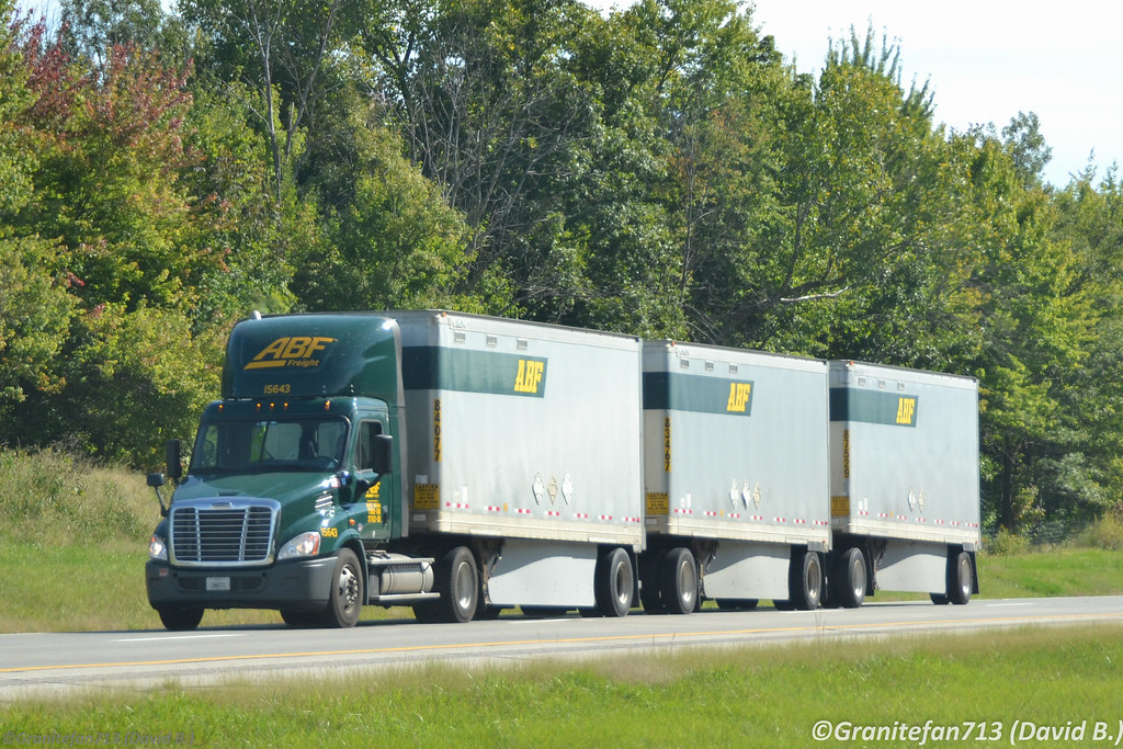 ... ABF Freight Freightliner Cascadia with Triples | by Trucks, Buses, & Trains by granitefan713