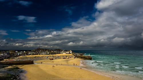 ocean uk sea sky lighthouse seascape beach clouds landscape coast sand rocks cornwall harbour coastal stives landscapephotography