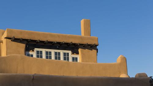 blue orange newmexico santafe architecture sunrise clear