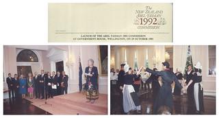 NZ Abel Tasman 1992 Commission launch event (October 29 1991)
