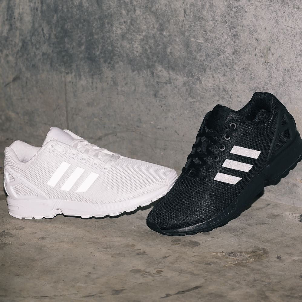 hot sale online d66ab 2ce1f Triple white and triple black ZX flux back in stock now wi ...