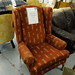 High back wing armchair