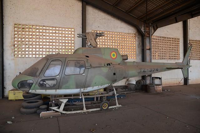 AS-350B Ecureil TZ-374 c/n 1869 ex Mali Air Force. Bamako-Sénou. December 2014.