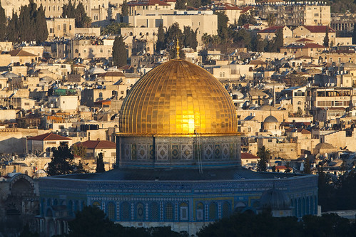 israel middleeast jerusalem domeoftherock sunrise goldenhour templemount architecture travel