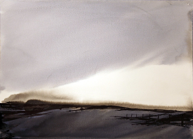 shore of the frozen lake (SOLD)