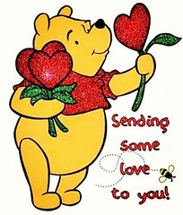 Its A.A. Milne's always affable Pooh Bear bringing love from Austin,TX straight to YOU! Have a blessed week and be sure to pass on the love :two_hearts: