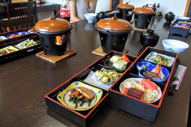 Traditional Japanese dinner
