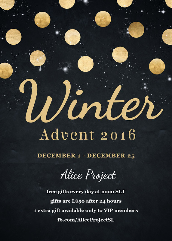 Alice Project Winter Advent Poster