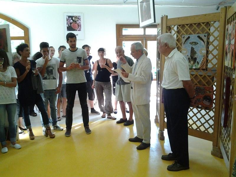 L' exposition a été inaugurée par le comte de Vaillac et Jean Soucirac , maire de Vaillac