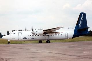 PH-KVC Fokker 50 20191 @ Eelde 12 juli 1993 by J.Hetebrij
