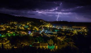 lightning at estartit spain  retouch | by Evelakes67