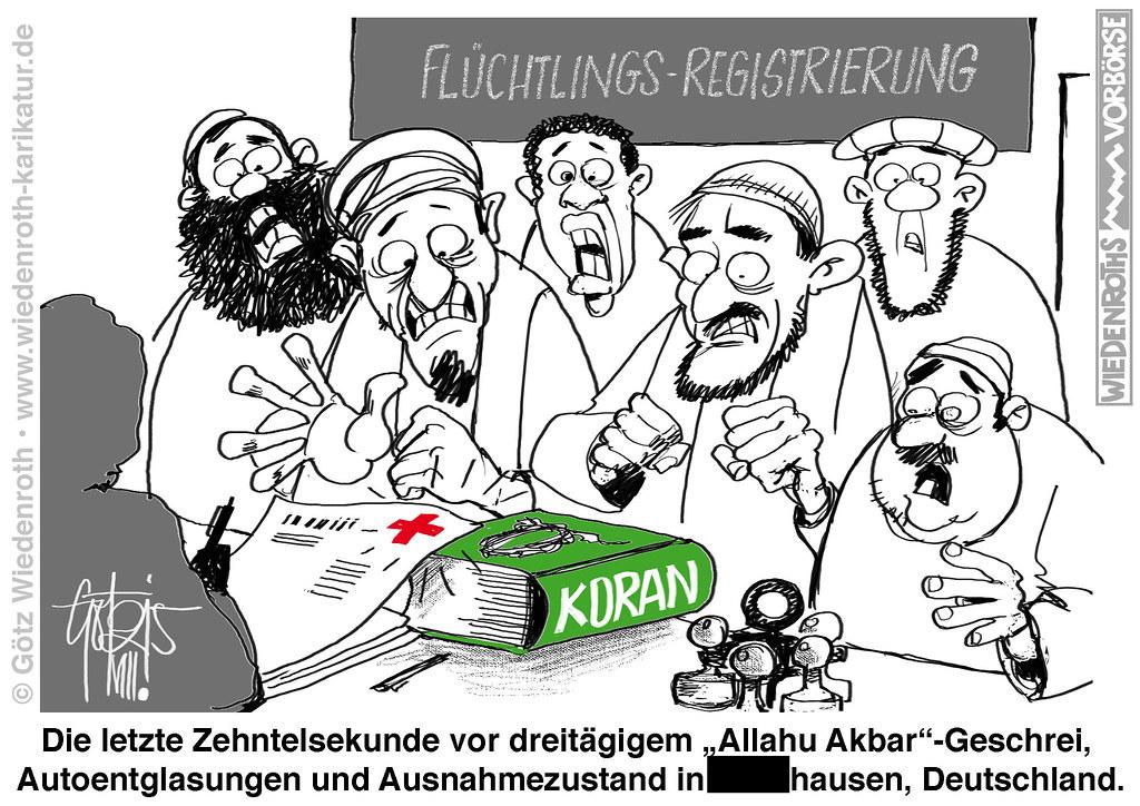 Bildergebnis für flüchtlinge karikaturen