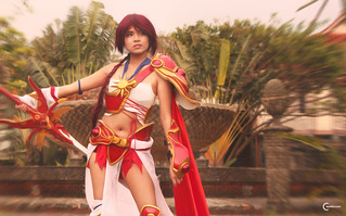 Kach Phrase cosplaying Hikaru of Magic Knight Rayearth