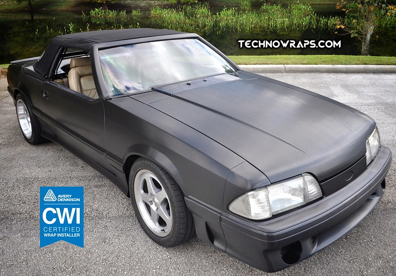3M car wrap in black Brushed Metallic - TechnoSigns Orlando