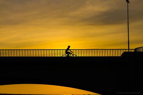 morning bridge people cloud silhouette sunrise canon southafrica flickr cyclist explore bluelagoon durban wwpw2015