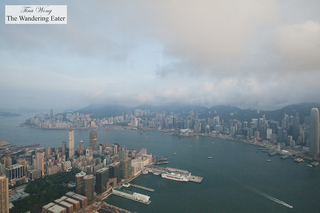 Breathtaking views of Hong Kong from The Ritz-Carlton Suite from the dining area