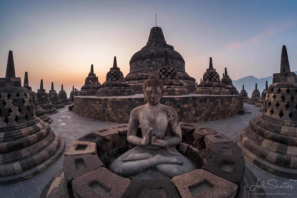 Borobudur, the biggest Buddhist temple in the world  Java