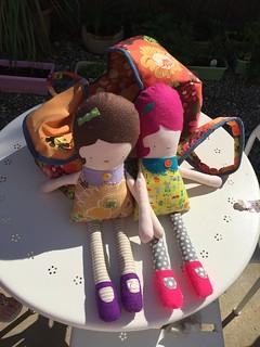 Baby doll basket and Greta dolls
