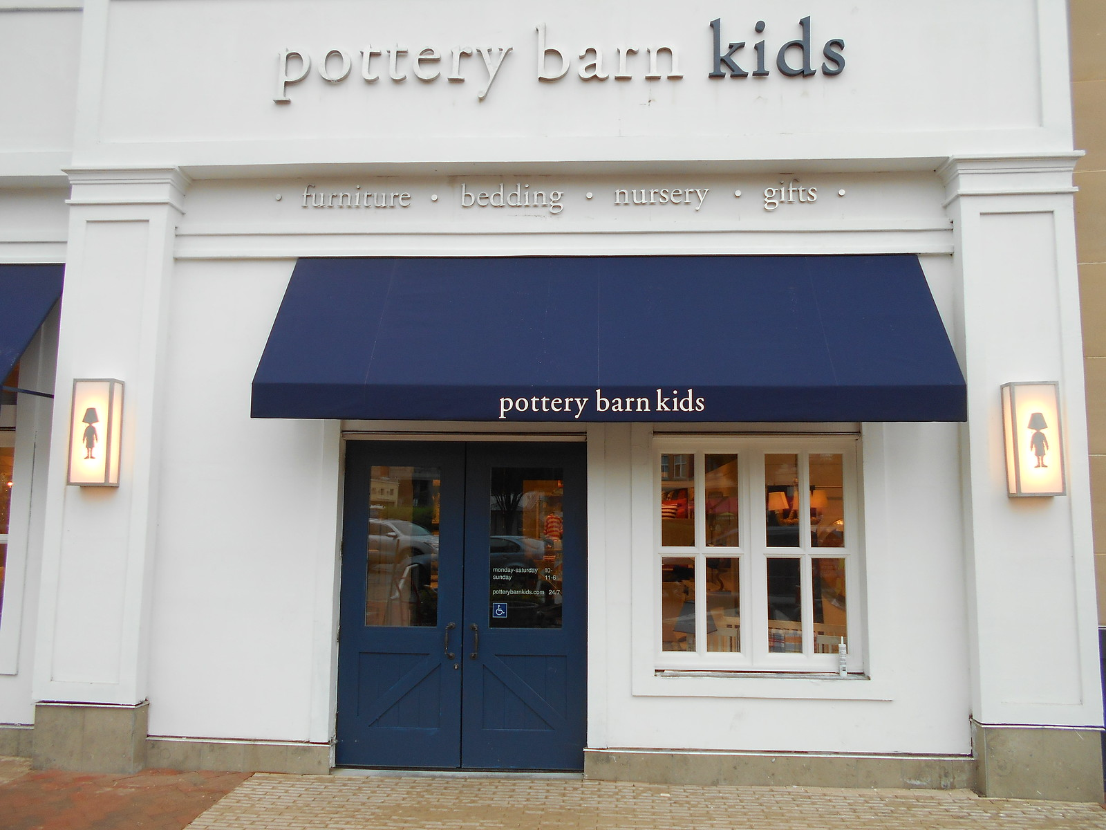 Pottery Barn Awning Storefront