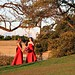 Image: Bridesmaids in Red