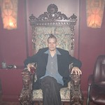 In a goth club in Phoenix - I couldn't resist a shot in the throne.