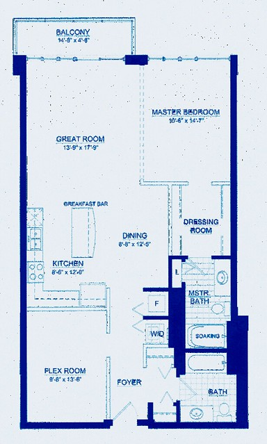 Plan d'un loft réalisé par un architecture d'intérieur