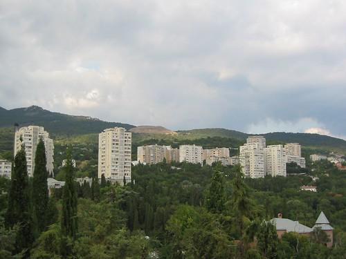 trees buildings crimea miskhor