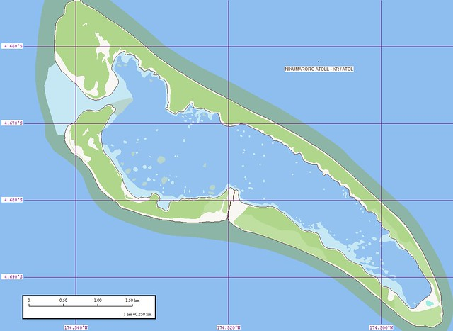 Nikumaroro Atoll - Map (1-25,000) | The map is excellent  Th… | Flickr