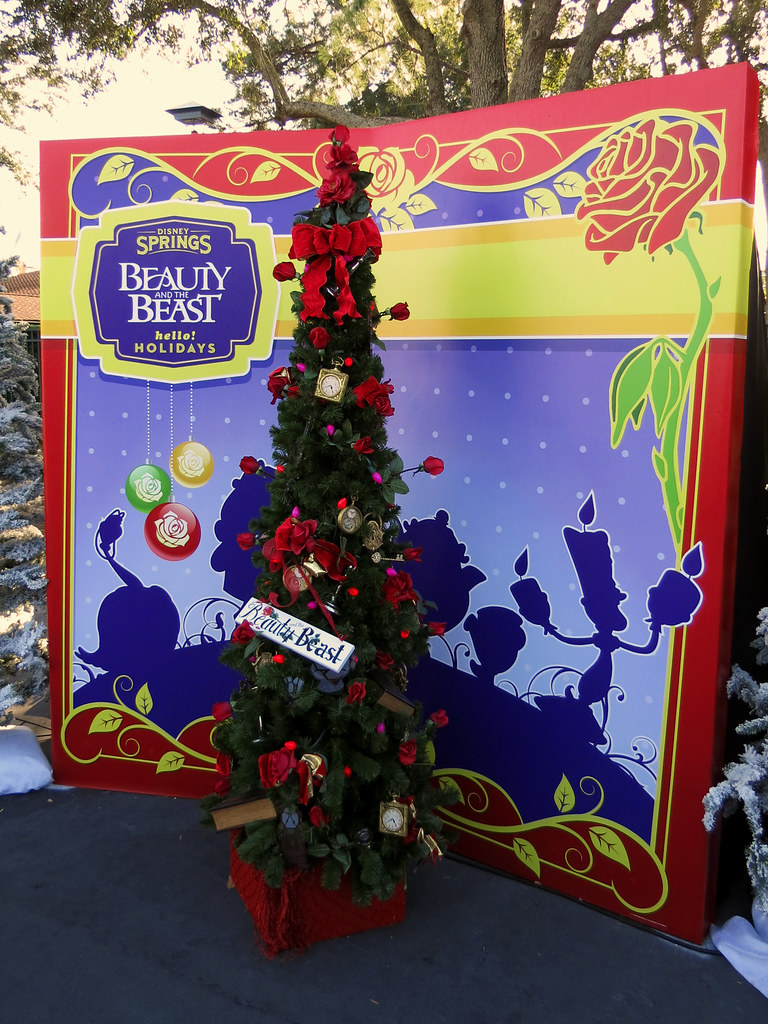 Beauty And The Beast Christmas.Beauty And The Beast Christmas Tree Disney Springs Christm