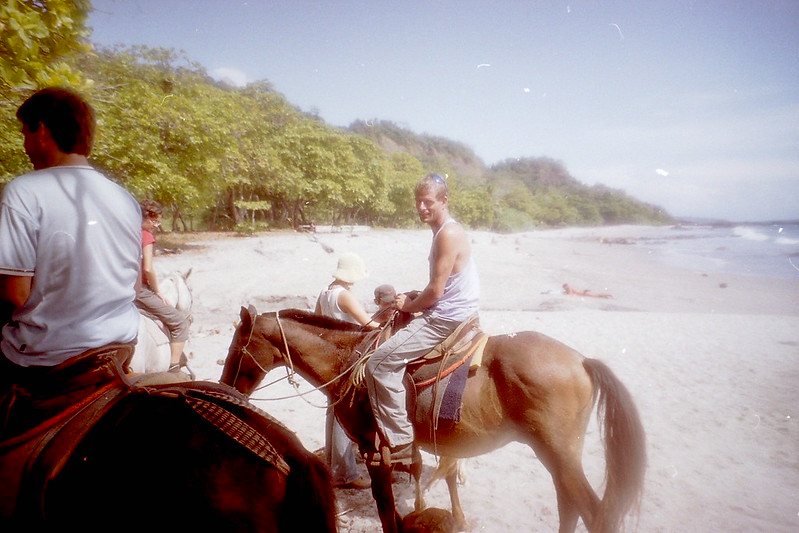 Horse ride on the beach, Montezuma, Costa Rica, 2001