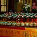Offerings of juice bottles, Lim Fah San Monastery, Kuching, Sarawak