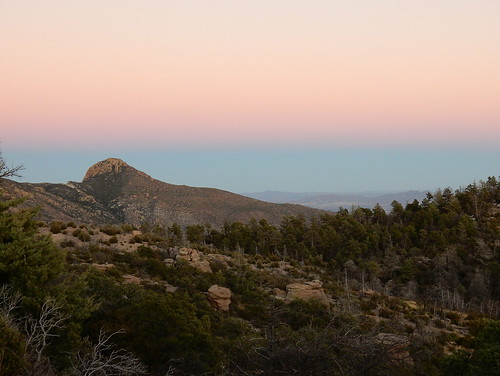Chiricahua NM - sunset - 1