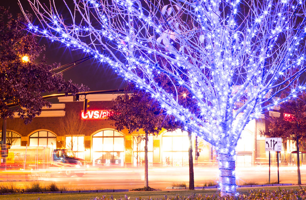 Cvs Christmas Lights.Cvs Pharmacy 30 Second Exposure Of The Lights In Front Of