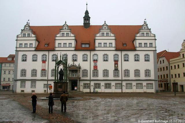 Europa, Deutschland, Sachsen-Anhalt, Lutherstadt Wittenberg, Altstadt, Markt, Rathaus