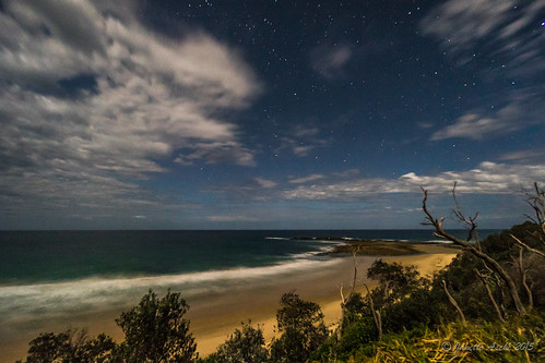 ocean sea beach water night clouds stars coast waves nightscape australia coastal nsw newsouthwales 2015 yuraygirnationalpark diggerscamp sonya7r