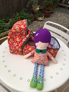 Baby doll basket and Greta doll