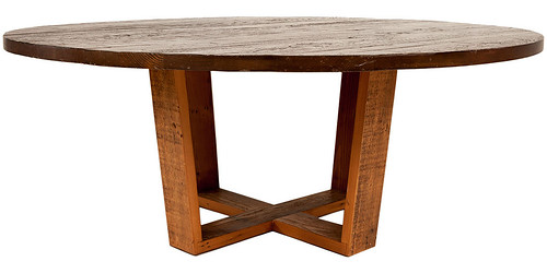 Vienna dining table with wood base | by urbanwoods123